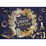 Luxury Cheese Lovers Advent Calendar 630g Pavé D' Affinois Washed Rind