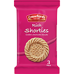 Crawford's Rich Shorties Biscuits 3 Pack 29g