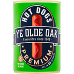 Ye Olde Oak 8 Premium Hot Dogs in Brine 400g