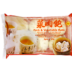 Gold Plum Pork & Vegetable Buns 6pcs x 50g
