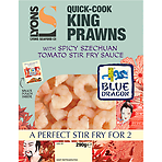Lyons Seafood Co Quick-Cook King Prawns with Blue Dragon Spicy Szechuan Tomato Stir Fry Sauce 290g King Prawns