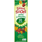 Whitworths Raisin & Chocolate Shots 25g