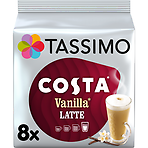 Tassimo Costa Vanilla Latte Coffee Pods x8