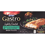 Young's Gastro 2 Lightly Dusted Sea Salt & Cracked Black Pepper Basa Fillets 310g