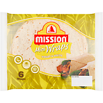 Mission Deli 6 Wheat & White Mini Wraps