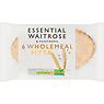 Essential Waitrose & Partners 6 Wholemeal Pitta