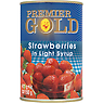 Premier Gold Strawberries in Light Syrup 411g