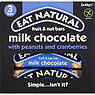 Eat Natural Fruit & Nut Bars Milk Chocolate with Peanuts and Cranberries 3 x 45g