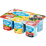 Nom Family Selection Low Fat Smooth Yogurts 6 x 120g Peach & Apricot