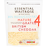 Essential Waitrose & Partners 30% Reduced Fat Grated British Cheddar 250g
