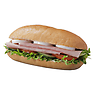 Greggs Honey Roast Ham and Egg Salad on White Sub Roll Sandwich
