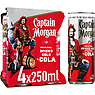 Captain Morgan Original Spiced Gold and Cola 4 x 250ml Ready to Drink Premix Can Multipack