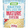 Asda 50% Less Fat Mature Grated British Cheese 200g