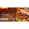 Flamehouse 4 100% Beef Quarter Pounders 454g