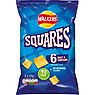 Walkers Squares Salt & Vinegar Snacks 6x22g