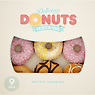 Delicious 9 Donut Selection Box Vanilla Filled