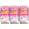 Happy Monkey Strawberry Milkshakes 3 x 200ml
