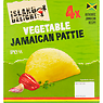 Island Delight Authentic Jamaican Flaky Pastry 4 Mixed Vegetable Patties 560g