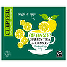 Clipper Fairtrade Organic Green Tea & Lemon 80 Unbleached Bags 160g