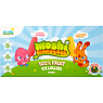 Moshi Monsters 100% Fruit Ice Lollies 4 x 60ml Poppet Raspberry