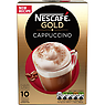 NESCAFE GOLD Cappuccino Coffee, 10 Sachets 17g