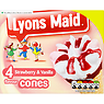 Lyons Maid Strawberry & Vanilla Flavour Cones 4 x 100ml