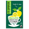 Clipper Fairtrade Organic Green Tea & Lemon 20 Unbleached Bags 40g