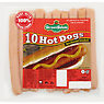 German Salami Company 10 Beechwood Smoked Hot Dogs 350g