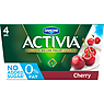 Activia 0% Fat No Added Sugar Cherry Yogurt 4 x 125g (500g)