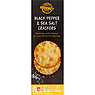 Gourmet Black Pepper & Sea Salt Crackers 185g