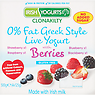 Irish Yogurts Clonakilty 0% Fat Greek Style Live Yogurt with Berries 4 x 125g (500g) Blackberry