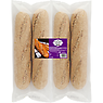 4 Brown Seeded Baguettes 600g