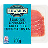 Edwards of Conwy 5 Rashers Unsmoked Dry Cured Thick Cut Bacon 200g