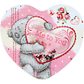 Me to You Pink and White Heart Shaped Mallows in Keepsake Tin 50g