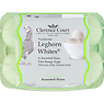 Clarence Court Traditional Leghorn Whites 6 Free Range Eggs with Pure White Coloured Shells