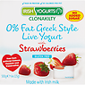 Irish Yogurts Clonakility 0% Fat Greek Style Live Yogurt with Strawberries 4 x 125g (500g)