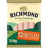Richmond 12 Skinless Pork Sausages 319g