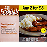 Fed Well Essentials Sausages and Mash 400g