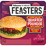 Feasters Premium Flame Grilled Quarter Pounder with Cheese 190g