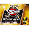 Miller Genuine Draft Cold-Filtered Beer 15 x 330ml
