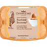 Clarence Court Mabel Pearman's Burford Browns 6 Free Range Eggs with Deep Brown Coloured Shells