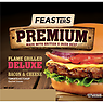 Feasters Premium Flame Grilled Deluxe with Bacon & Cheese 159g