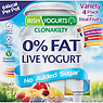 Irish Yogurts Clonakility 0% Fat Bio-Live Yogurt Variety 4 x 125g (500g) Strawberry