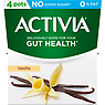 Activia Vanilla No Added Sugar 0% Fat Yogurt 4 x 120g (480g)