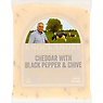 Knockanore Irish Farmhouse Cheese Cheddar with Black Pepper & Chive 150g
