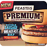 Feasters Premium Double Sausage Breakfast Bap with Cheese & Tomato Ketchup 198g