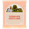 Knockanore Irish Farmhouse Cheese Cheddar with Garlic & Chive 150g