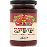 Valley Gold No Added Sugar Raspberry Preserve with Sweetener 340g