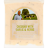 Knockanore Irish Farmhouse Cheese Cheddar with Garlic & Herbs 150g