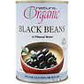 Natura Organic Black Beans in Filtered Water 400g